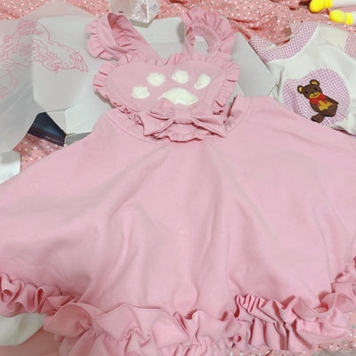 Fashion Cat Paw Girls Dress PN3310