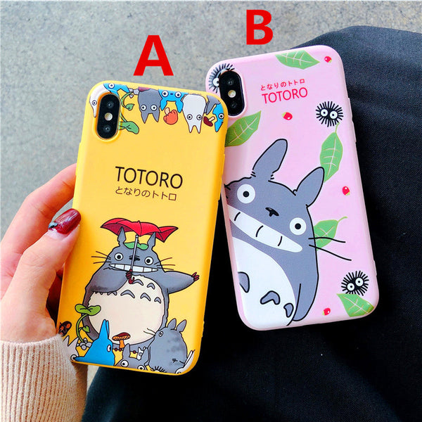 Kawaii Totoro Phone Case for iphone 6/6s/6plus/7/7plus/8/8P/X/XS/XR/XS Max/11/11pro/11pro max PN0767