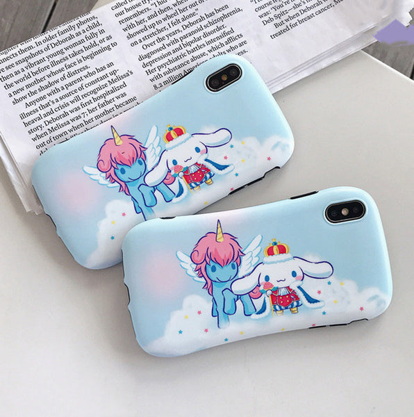 Unicorn and Cinnamoroll Phone Case for iphone 6/6s/6plus/7/7plus/8/8P/X/XS/XR/XS Max PN1715