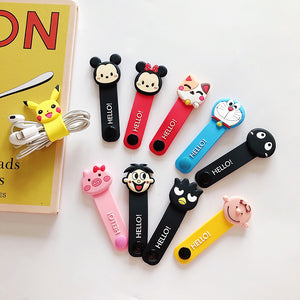 Pikachu And Cartoon Earphone Wire Collector PN1151