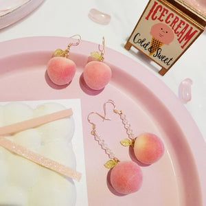 New Pink Peach Earrings/Clips PN3147