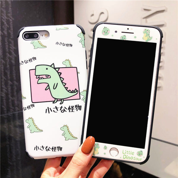 Little Dinosaur Phone Case for iphone 6/6s/6plus/7/7plus/8/8p/X/XS/XR/XS Max PN2358