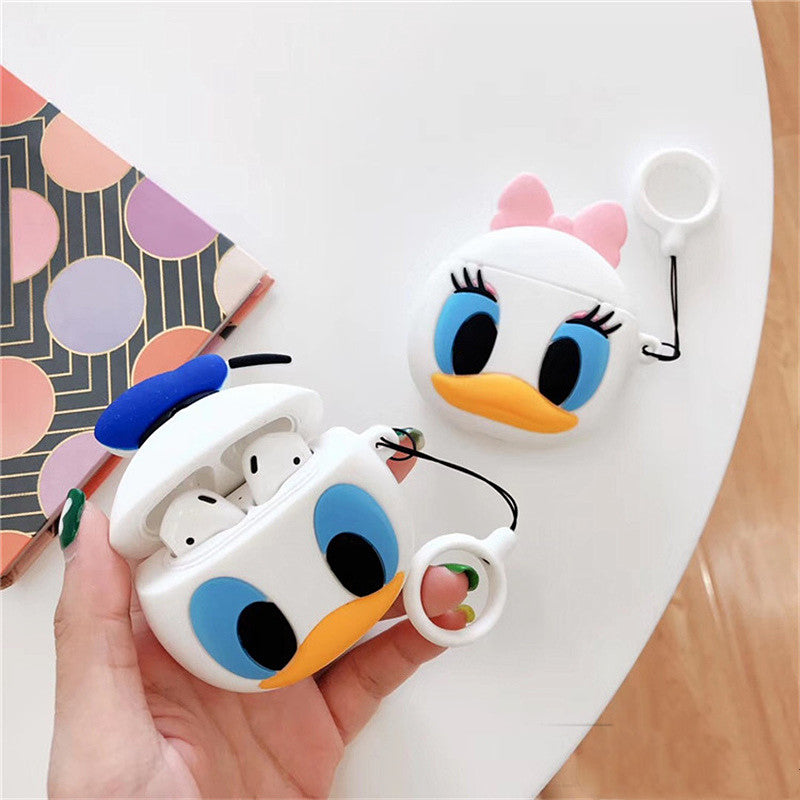Cartoon Donald Duck Airpods Case For Iphone PN1572