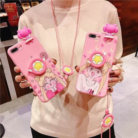 Pink Usagi Phone Case for iphone 6/6s/6plus/7/7plus/8/8P/X/XS/XR/XS Max PN1124