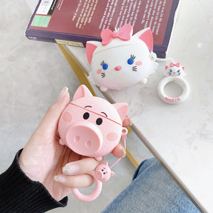 Lovely Cat and Pig Airpods Case For Iphone PN1432