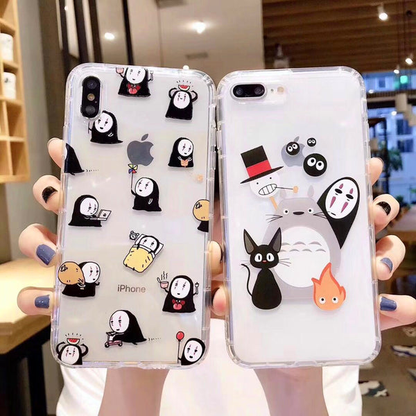 Totoro Phone Case for iphone 6/6s/6plus/7/7plus/8/8P/X/XS/XR/XS Max/11/11pro/11pro max PN1417