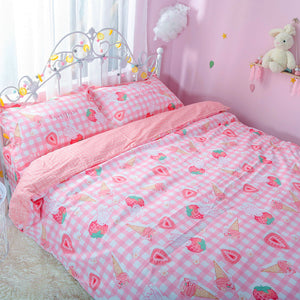 Cute Strawberry Bedding Set PN1385