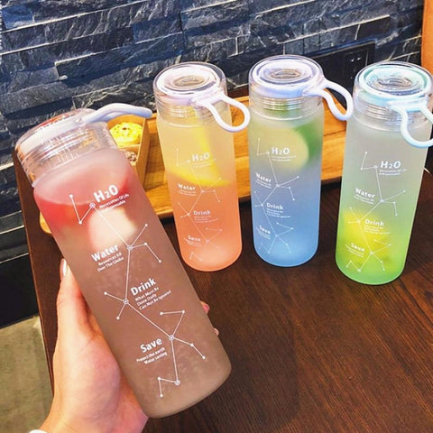 Kawaii Stars Glass Water Bottle PN2492