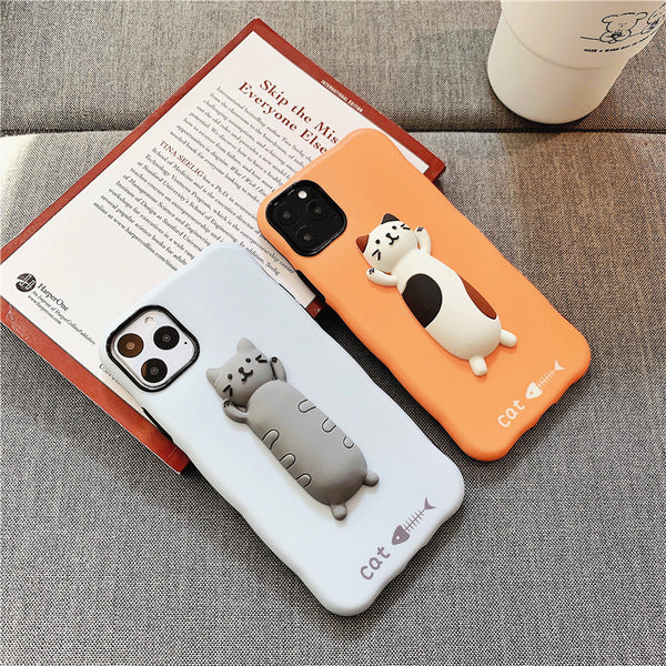 Kawaii Cat Phone Case for iphone 7/7plus/8/8P/X/XS/XR/XS Max/11/11pro/11pro max PN2141