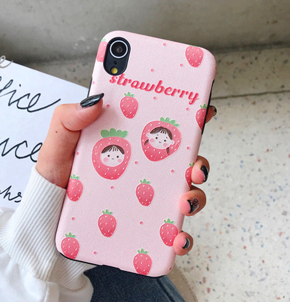 Strawberry and Avocado Phone Case for iphone 6/6s/6plus/7/7plus/8/8P/X/XS/XR/XS Max PN1590