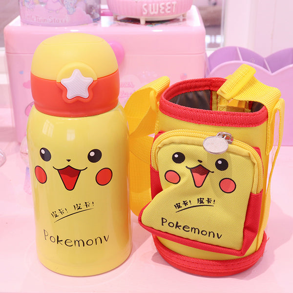 Cute Pikachu And Usagi Vacuum Bottle PN1947