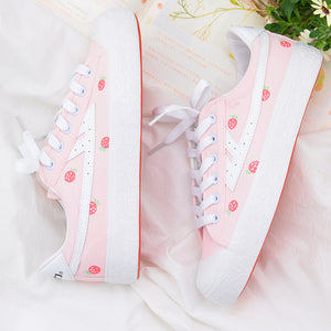 Lovely Strawberry Canvas Shoes PN2705