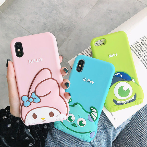 Cartoon My melody Phone Case for iphone 6/6s/6plus/7/7plus/8/8P/X/XS/XR/XS Max PN1597