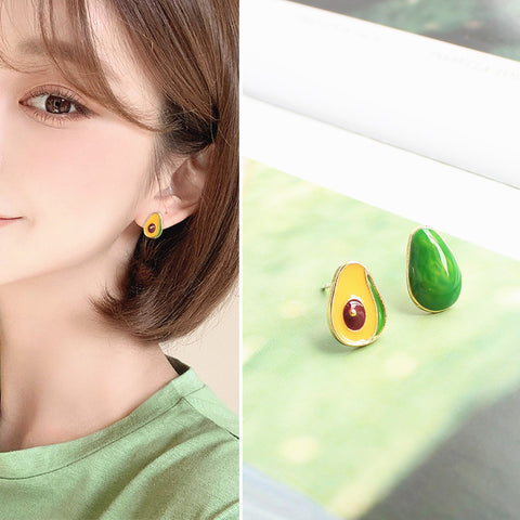 Cute Avocado Earrings/Clips PN2478