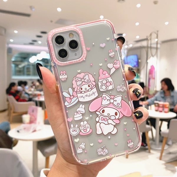 Lovely Cinnamoroll Phone Case for iphone 7/7plus/8/8P/X/XS/XR/XS Max/11/11pro/11pro max PN2283