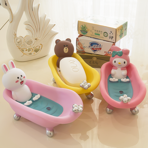 Cartoon Bear and Rabbit Soap Box PN2334