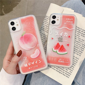 Sweet Fruits Juice Phone Case for iphone 7/7plus/8/8P/X/XS/XR/XS Max/11/11pro/11pro max PN3185
