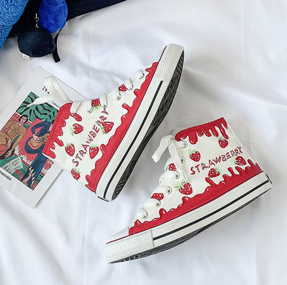 Fashion Strawberry Canvas Shoes PN2882