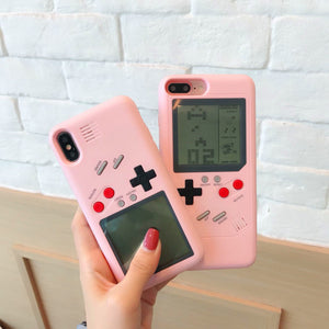 The Tetris Gameconsole Phone Case for iphone 6/6s/6plus/7/7plus/8/8P/X/XS/XR/XS Max/11/11pro/11pro max PN0530