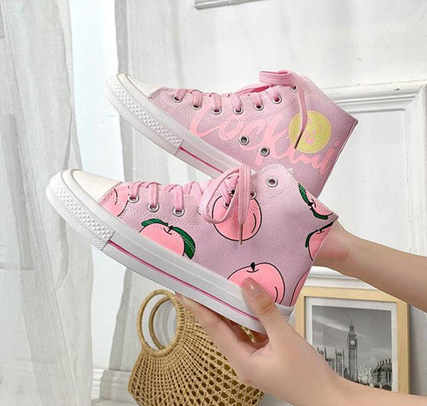 Pink Apple Canvas Shoes PN1860