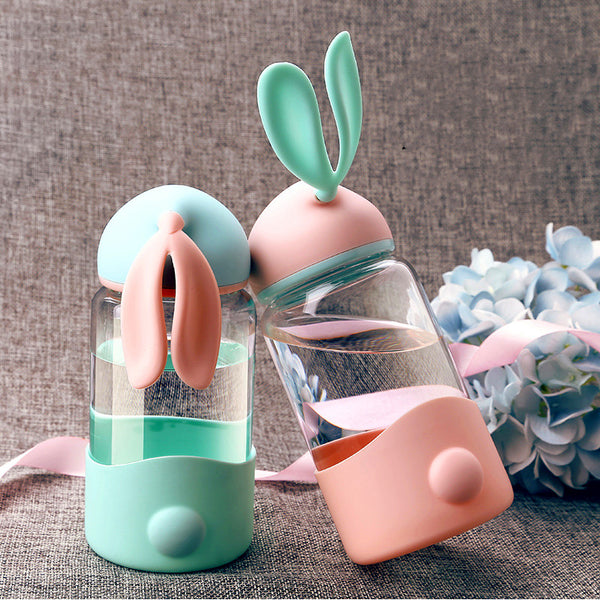 Cute Rabbits Ears Water Bottle PN1396