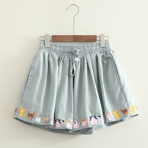Lovely Cats Pleated Shorts PN1587