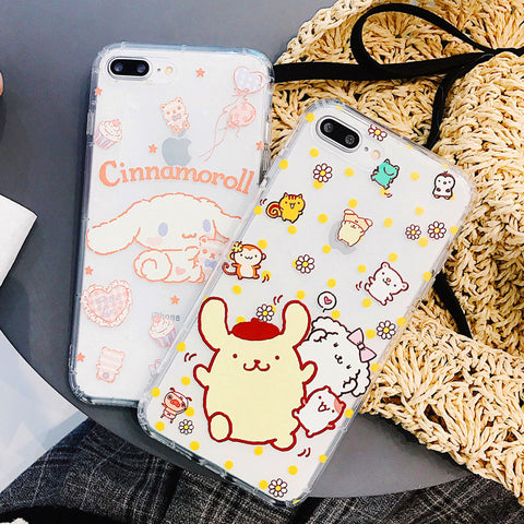 Lovely Cinnamoroll Phone Case for iphone 6/6s/6plus/7/7plus/8/8P/X/XS/XR/XS Max/11/11pro/11pro max PN0855