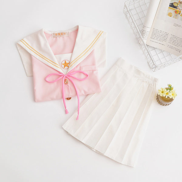 Fashion Sakura Embroidery Skirt and Top PN1261