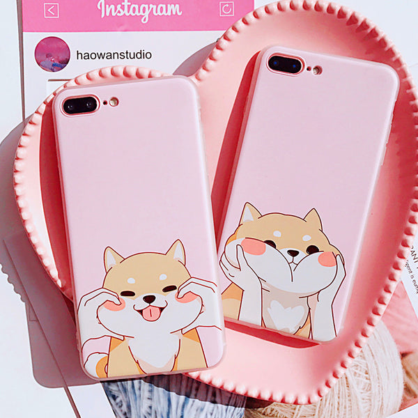 Cute Corgi Phone Case for iphone 6/6s/6plus/7/7plus/8/8P/X PN0832
