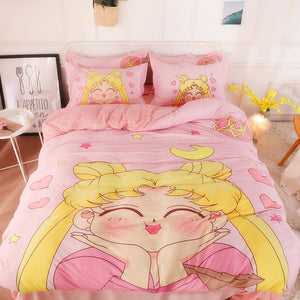 Kawaii Sailormoon Usagi Bedding Set PN0001