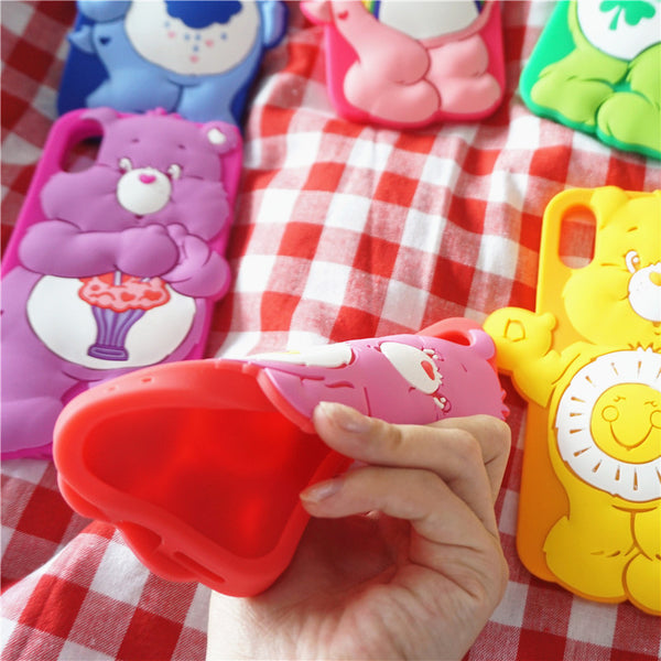 Kawaii Bear Phone Case for iphone 6/6s/6plus/7/7plus/8/8P/X/XS/XR/XS Max/11/11pro/11pro max PN1560