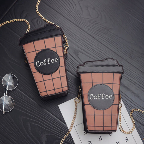 One Cup Of Coffee Shoulder Bag PN0308