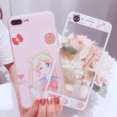 Pink Sailormoon Usagi Phone Case for iphone 6/6s/6plus/7/7plus/8/8P/X/XS/XR/XS Max /11/11pro/11pro max PN0110