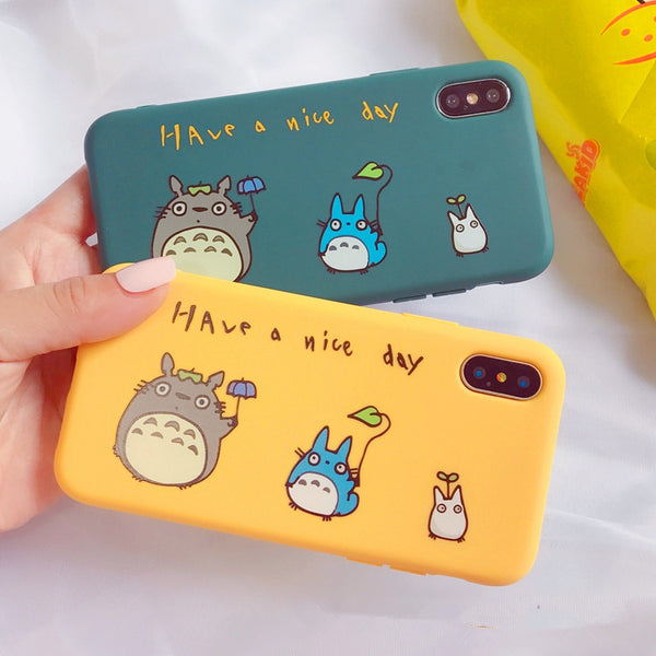 Cute Totoro Phone Case for iphone 6/6s/6plus/7/7plus/8/8P/X/XS/XR/XS Max PN0525