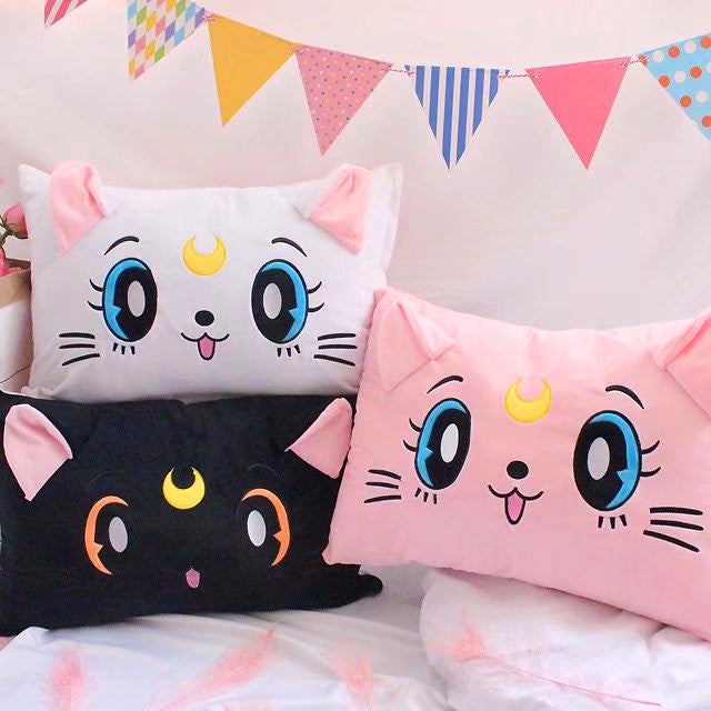 Kawaii Sailormoon Luna Pillowcover PN0469