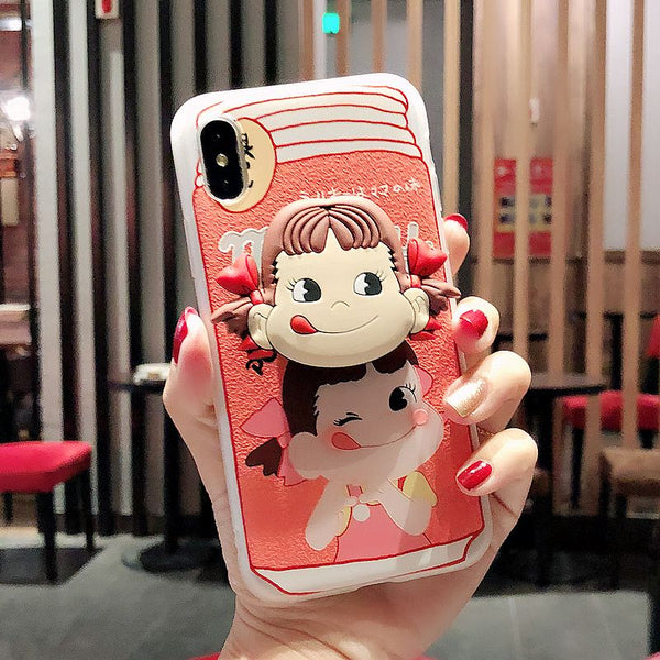 Kawaii Milky Phone Case for iphone 6/6s/6plus/7/7plus/8/8P/X/XS/XR/XS Max PN1798