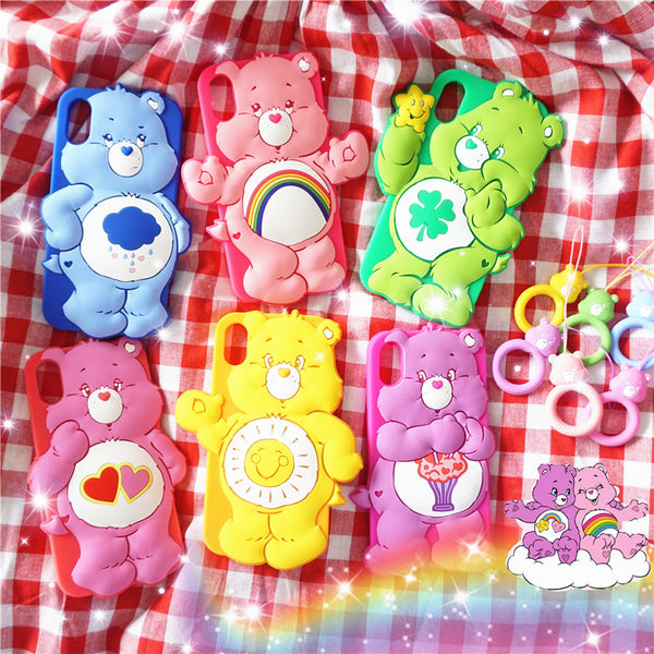 Cute Care Bear Phone Case for iphone 6/6s/6plus/7/7plus/8/8P/X/XS/XR/XS Max/11/11pro/11pro max PN1560