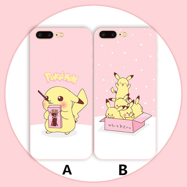 Kawaii Pikachu Phone Case for iphone 5/5s/se/6/6s/6plus/7/7plus/8/8P/X/XR/XS Max PN0621