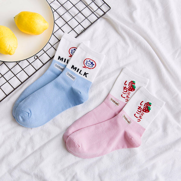 Strawberry And Milk Socks PN0523