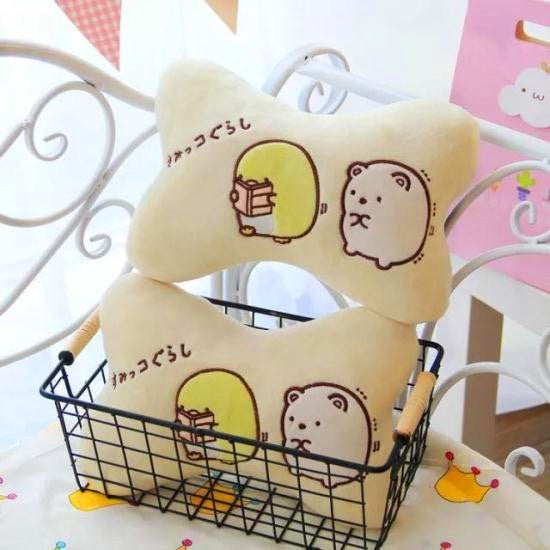 Kawaii Animals Headrest And Shoulderpad PN0702