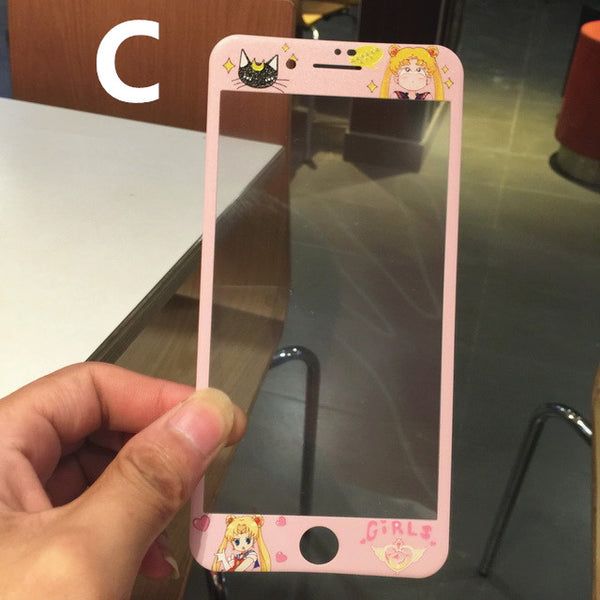 Pink Sailormoon Phone Tempered Film for iphone 6/6s/6plus/7/7plus/8/8p PN1925