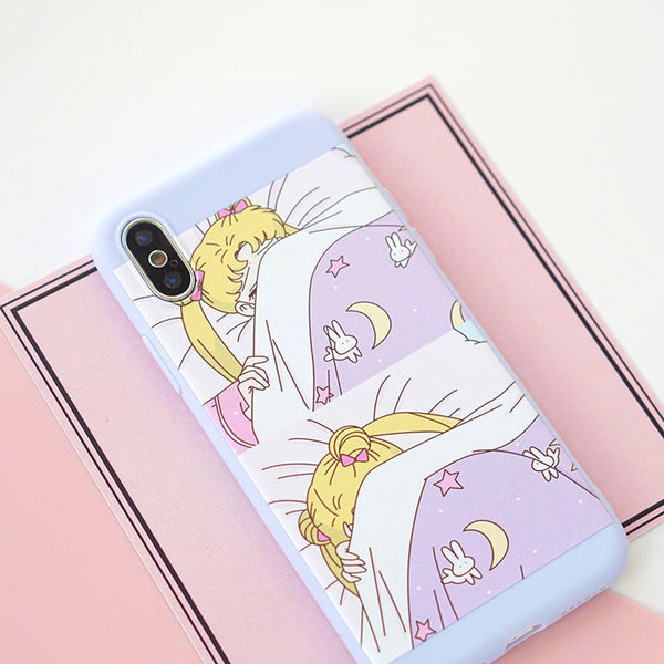 Sailormoon Sleepy Phone Case for iphone 6/6s/6plus/7/7plus/8/8P/X/XS/XS Max PN0634