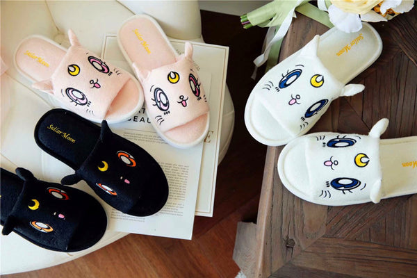 Kawaii Sailormoon Luna Cat Slippers PN0628