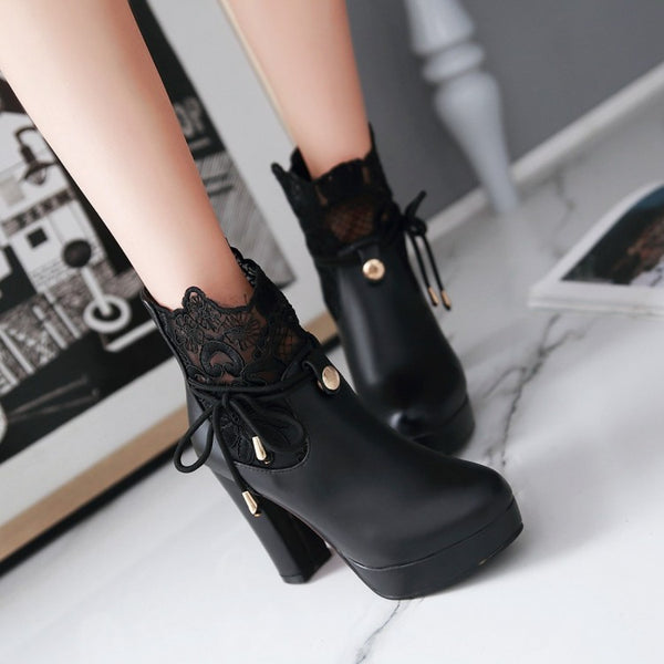 Fashion High-heeled Martin Boots PN1468