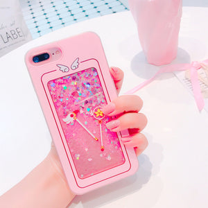 Liquid Sakura Magic Wand Phone Case for iphone 6/6s/6plus/7/7plus/8/8P/X/XS/XR/XS Max PN0132