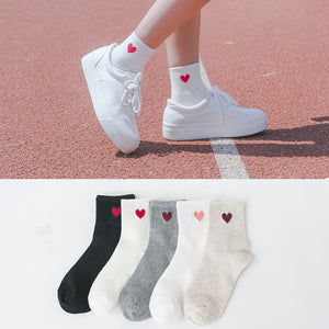 Harajuku Heart Design Socks PN0374
