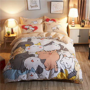 Fashion Playing Cats Bedding Set PN1270