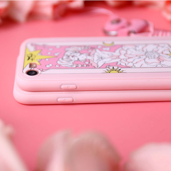 Sakura Clow Card Phone Case for iphone 5/5s/5se/6/6s/6plus/7/7plus/8/8p/X/XS/XR/XS Max PN0917