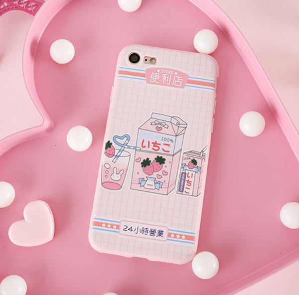 Kawaii Foods Phone Case for iphone 6/6s/6plus/7/7plus/8/8P/X/XS/XR/XS Max/11/11pro/11pro max PN2379
