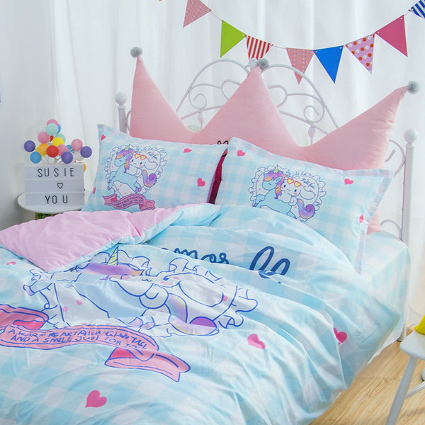 Dreamy Unicorn And Cinnamoroll Bedding Set PN0532